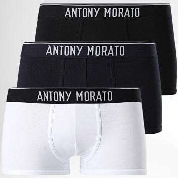 Antony Morato - Lot de 3 Boxers MMUW00157 Noir Blanc Bleu Marine
