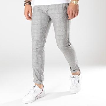 Black Needle - Pantalon A Carreaux 1014 Gris