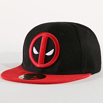 Marvel - Casquette Snapback Deadpool 001 Noir Rouge
