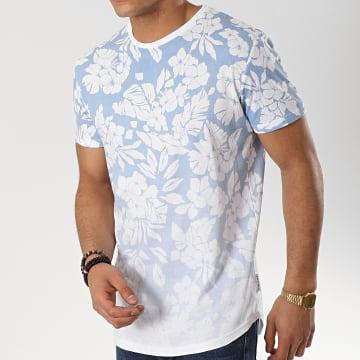 Tee Shirt Oversize Asbjorn Bleu Clair Blanc Floral