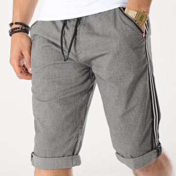 MZ72 - Short Chino A Bandes Foxing Gris Anthracite