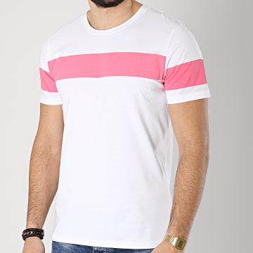 Selected - Tee Shirt Rasmus Blanc Rose