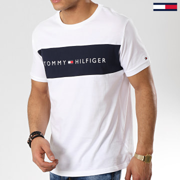 Tee Shirt Logo Flag 1170 Blanc Bleu Marine