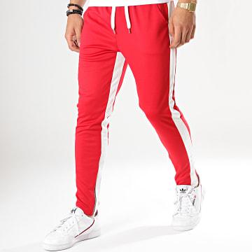 Frilivin - Pantalon Jogging A Bandes 1565 Rouge Blanc