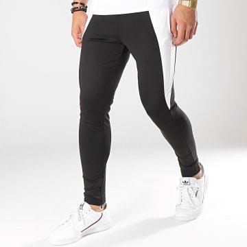 Pantalon Jogging Contrast Panels Noir Blanc