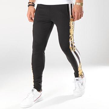 Pantalon Jogging A Bandes Baroque And Stripes Noir Blanc Jaune Renaissance