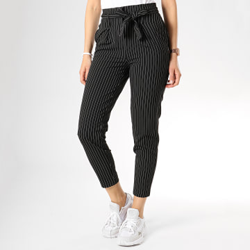 Pantalon Rayé Femme Nicole Noir Blanc
