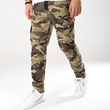 Pantalon Cargo M3715CPA Vert Kaki Camouflage