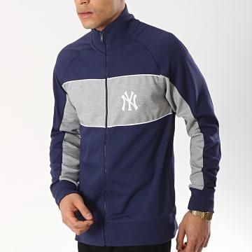 Veste Zippée MLB New York Yankees Cut Sew Bleu Marine Gris Chiné