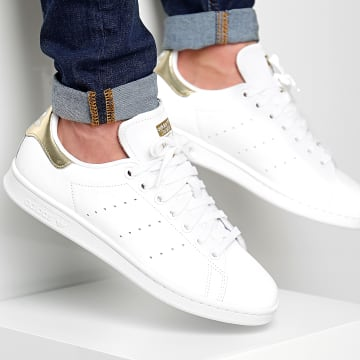 Adidas Originals - Baskets Stan Smith EE8836 Footwear White Gold Metallic