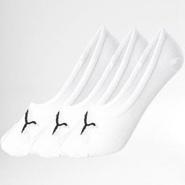Puma - Lot De 3 Paires De Chaussettes Invisibles 171002001 Blanc