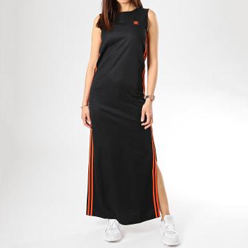 Robe Femme DU9943 Noir Orange