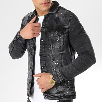 Black Needle - Veste Jean 2553 Noir