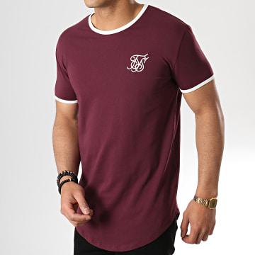 Tee Shirt Oversize 13525 Bordeaux Blanc