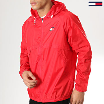 Tommy Sport - Coupe-Vent Back Logo 0064 Rouge