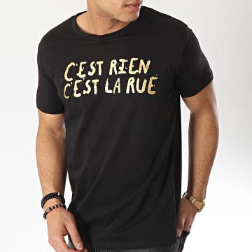 C'est Rien C'est La Rue - Tee Shirt 21 Noir Or