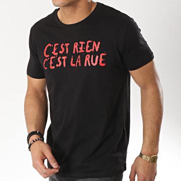 C'est Rien C'est La Rue - Tee Shirt 21 Noir Rouge
