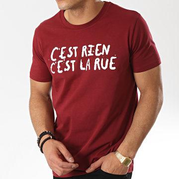 C'est Rien C'est La Rue - Tee Shirt 21 Bordeaux