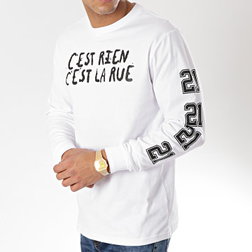 C'est Rien C'est La Rue - Tee Shirt Manches Longues 21 Blanc