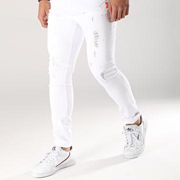 Jean Slim L8835 Blanc