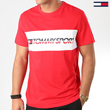 Tommy Sport - Tee Shirt Logo Driver 0082 Rouge Blanc