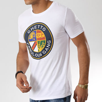 Ghetto Fabulous Gang - Tee Shirt Blason Blanc