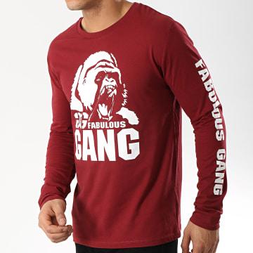 Ghetto Fabulous Gang - Tee Shirt Manches Longues Gorilla Bordeaux