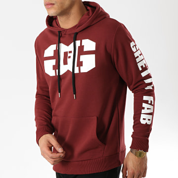 Ghetto Fabulous Gang - Sweat Capuche Gang Bordeaux
