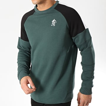 Gym King - Sweat Crewneck Core Plus Contrast Vert Noir Blanc