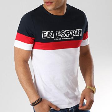 Heuss L'Enfoiré - Tee Shirt En Esprit Tricolore 2 Bleu Marine Blanc Rouge