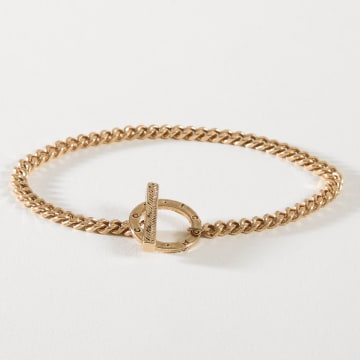 Bracelet Jonc Herring Bone Doré