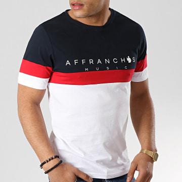 Fianso - Tee Shirt Affranchis Music Tricolore Bleu Marine Blanc Rouge