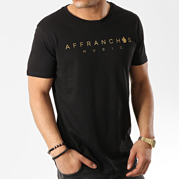 Affranchis Music - Tee Shirt Noir Doré