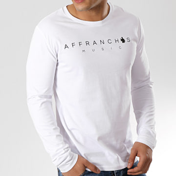 Sofiane - Tee Shirt Manches Longues Affranchis Music Blanc