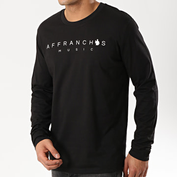 Affranchis Music - Tee Shirt Manches Longues Noir Blanc