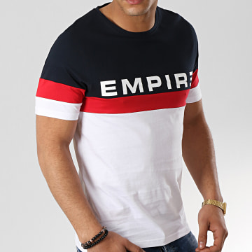 93 Empire - Tee Shirt Tricolore Tape Bleu Marine Blanc Rouge