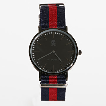 TheGoodStuff - Montre Paul Noir Bleu Marine Rouge