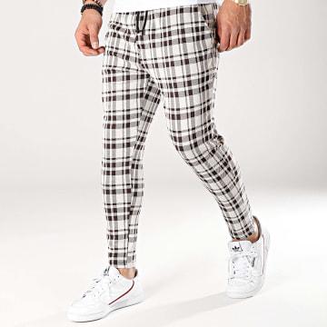 Uniplay - Pantalon A Carreaux UPP39 Beige Marron