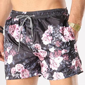 Short De Bain BM1052A Noir Rose Floral