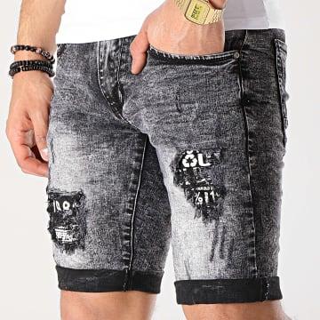 Short Jean Slim E6792 Gris