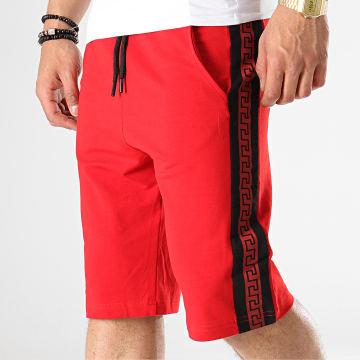 Short Jogging A Bandes 9008 Rouge Noir Renaissance