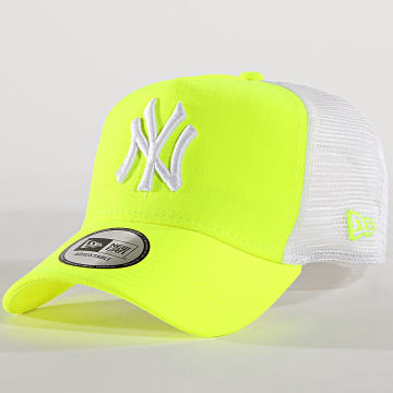 New Era - Casquette Trucker Neon New York Yankees 11773665 Jaune Fluo Blanc