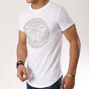 Tee Shirt Oversize 908821 Blanc Doré