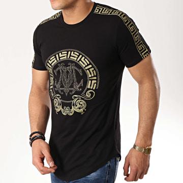 Tee Shirt Oversize 9112 Noir Doré Renaissance
