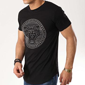 Tee Shirt Oversize 90882 Noir Argenté