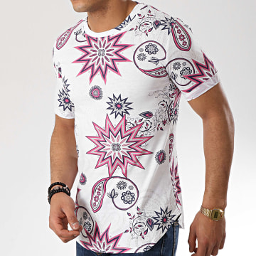 Tee Shirt Oversize 1748 Blanc Floral