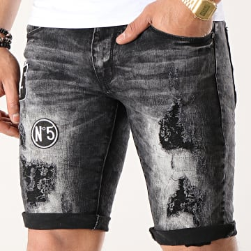 Short Jean Slim E6793 Noir
