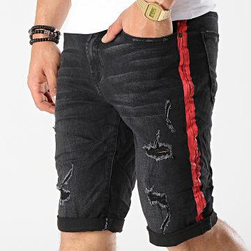 Short Jean 58039 Noir Rouge