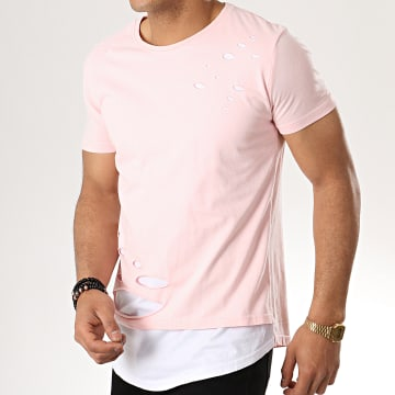 Tee Shirt Oversize 153 Rose Blanc