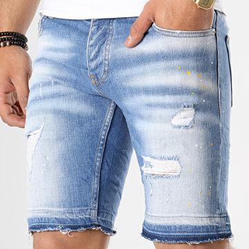 Short Jean Slim 1091 Bleu Denim